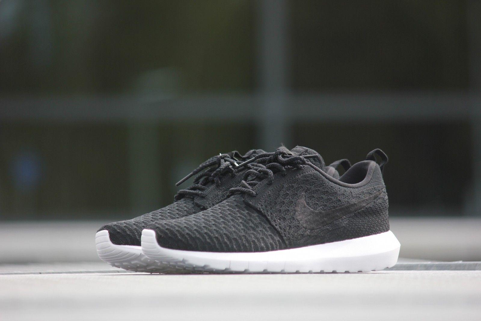 d81e4972e1af Nike Roshe Nm FlyKnit Black Black-White - 677243-011