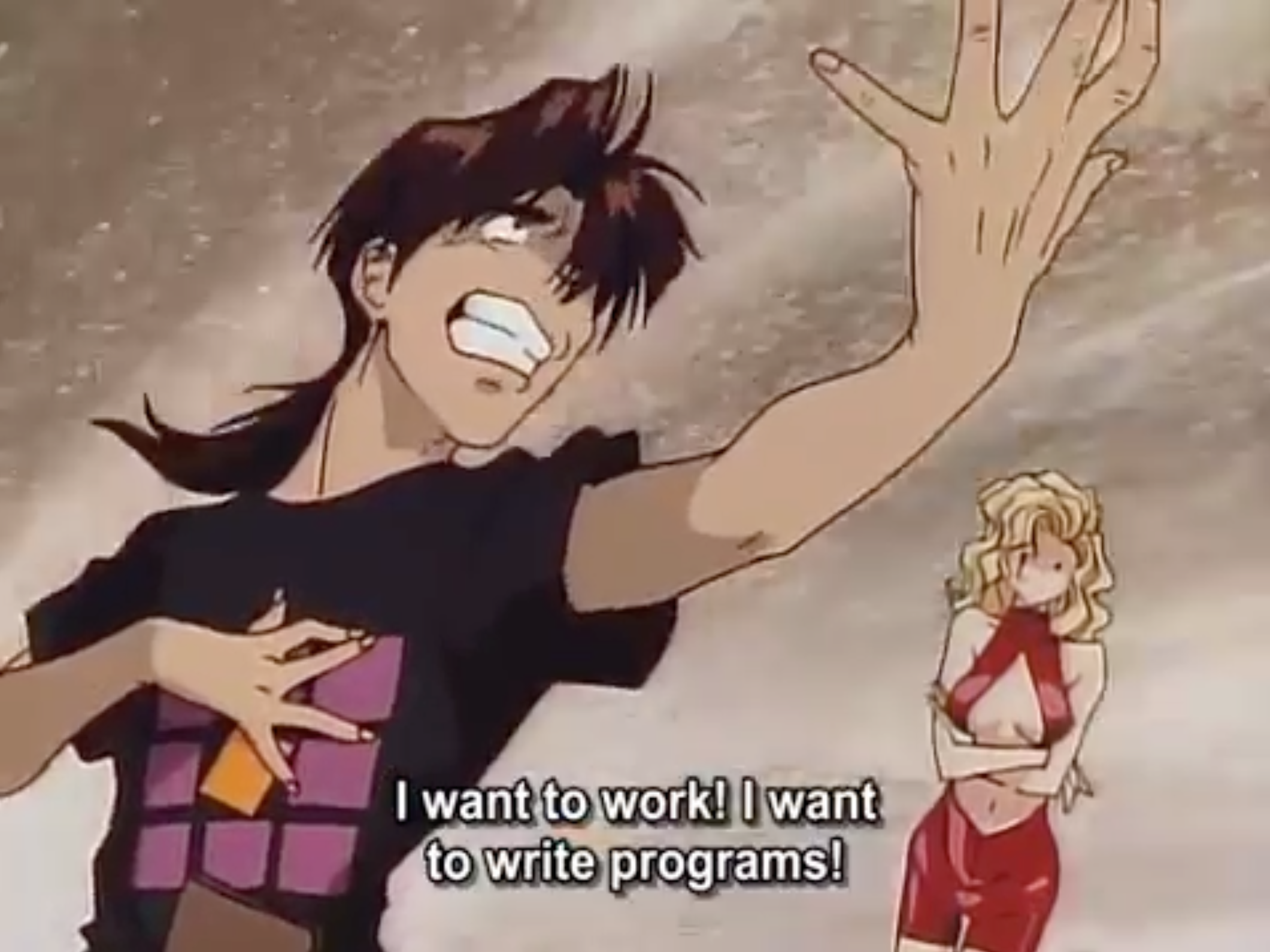 Kintaro oe golden boy wanting to be a programmer old anime