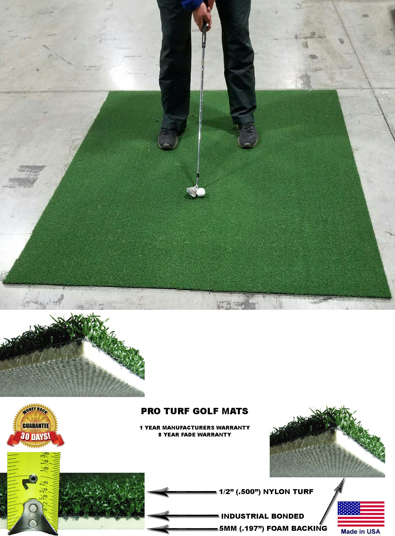 nets cages and mats 50876 backyard golf mat 6 x 6 pro residential
