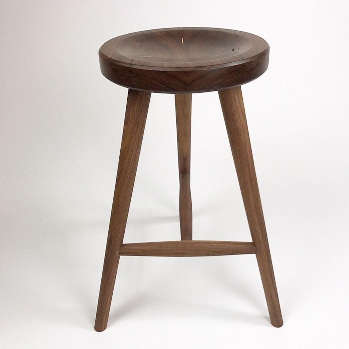 Fabulous Handmade Walnut Stools Custom Stools Wood Stools Bar Bralicious Painted Fabric Chair Ideas Braliciousco