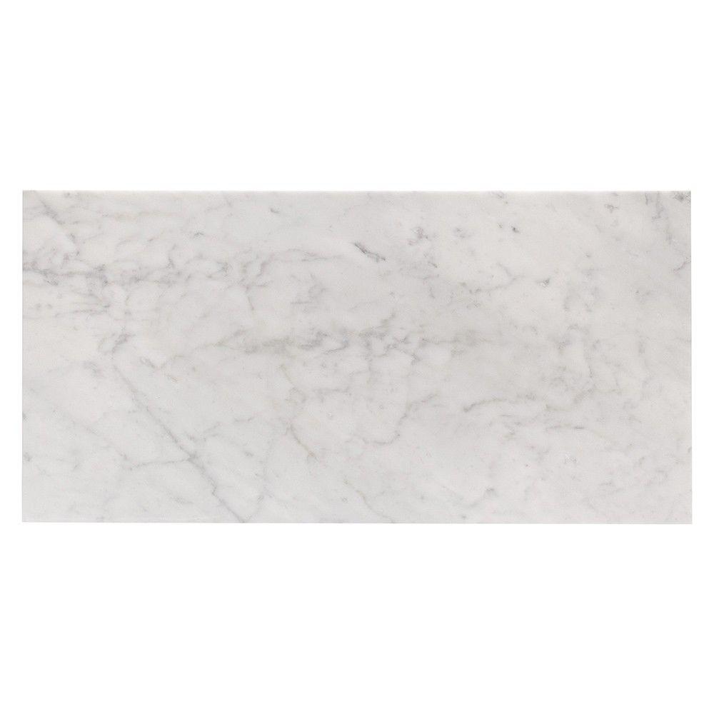 Carrara 12X24 l Polished Marble Tile | Tilebar.com