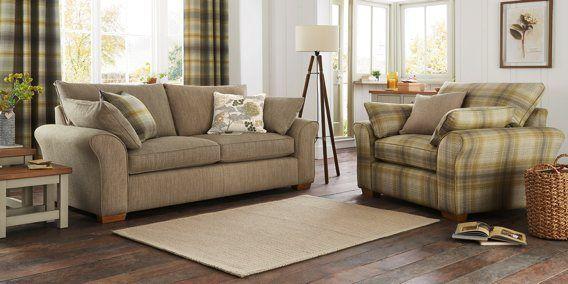 Buy Garda Large Sofa (3 Seats) Textured Weave Mid Mink Block ...