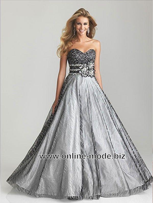 Abendkleid Ballkleid Online in Silber Grau | kleid | Pinterest ...