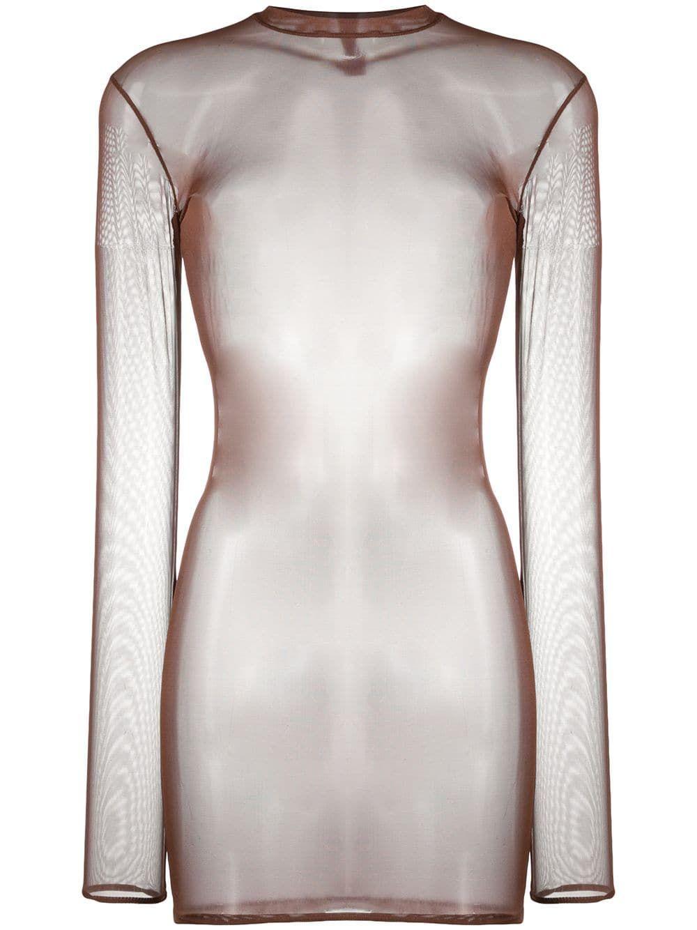 Maison Close Sheer Mesh Mini Dress Farfetch In 2021 Mini Dress Long Sleeve And Shorts Dresses [ 1334 x 1000 Pixel ]
