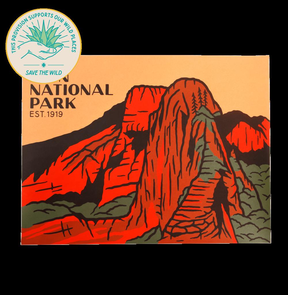 Zion National Park Print National Parks Zion National Park National Park Posters