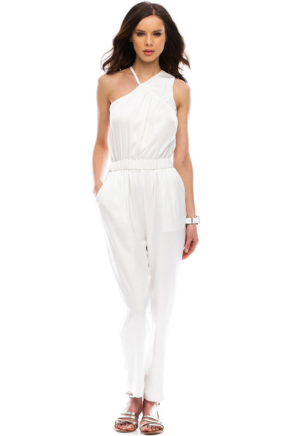 11975f11061f One Shoulder Jumpsuit - Rompers   Jumpers - Womens - Armani Exchange ...