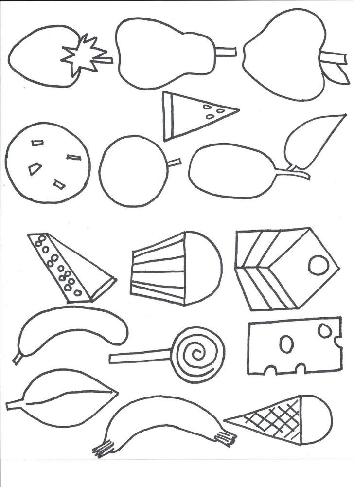 Coloring Pages For Kids: Very Hungry Caterpillar Coloring