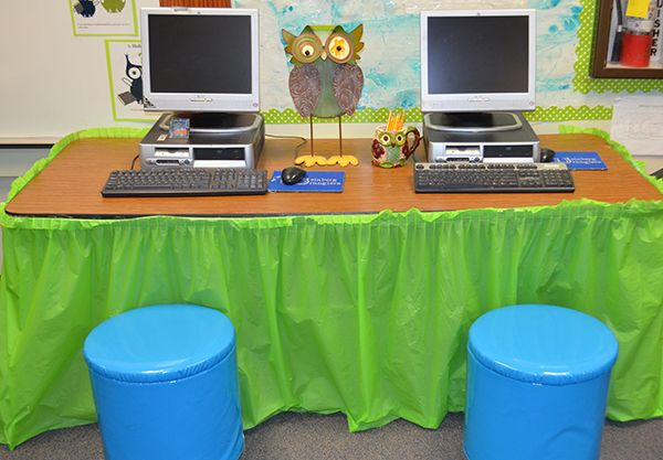 Plastic Table Cloth Covers Are A Great Way To Dress Up The Computer Center  In Your