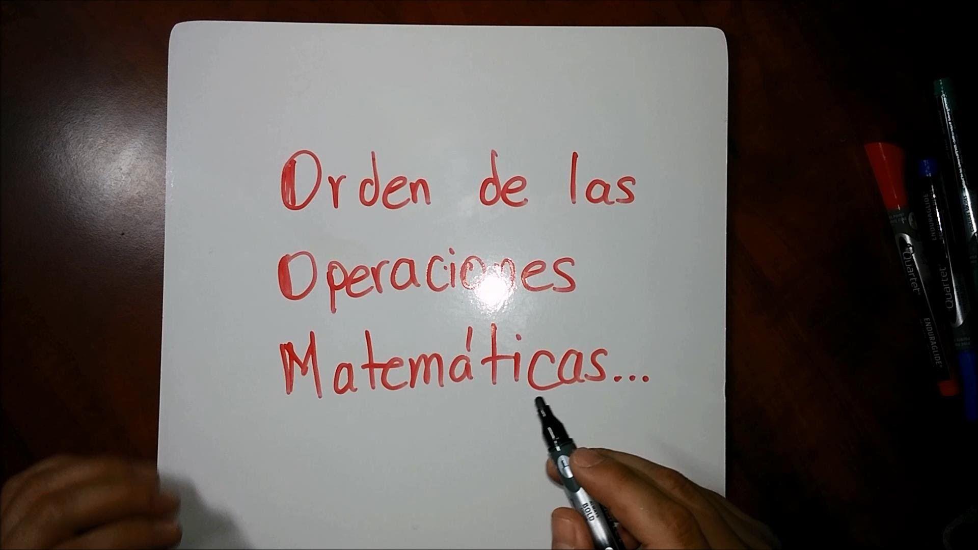 Orden o jerarquía de las operaciones matemáticas PEMDAS, PEMDSR ...