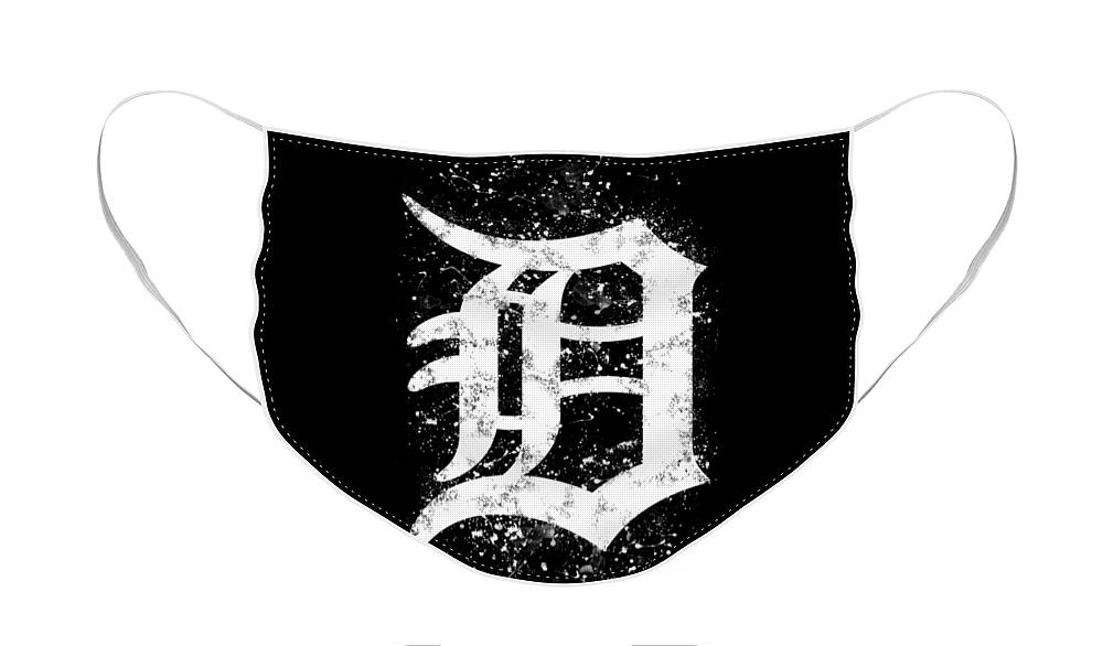 Abstract Detroit Tigers Baseball Poster Face Mask for Sale