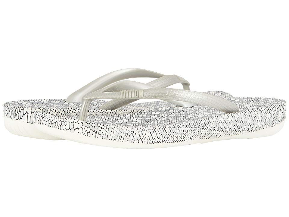 208f690d7 FitFlop Iqushion Ergonomic Flip-Flop (Silver Mix) Women s Sandals. for the  women s
