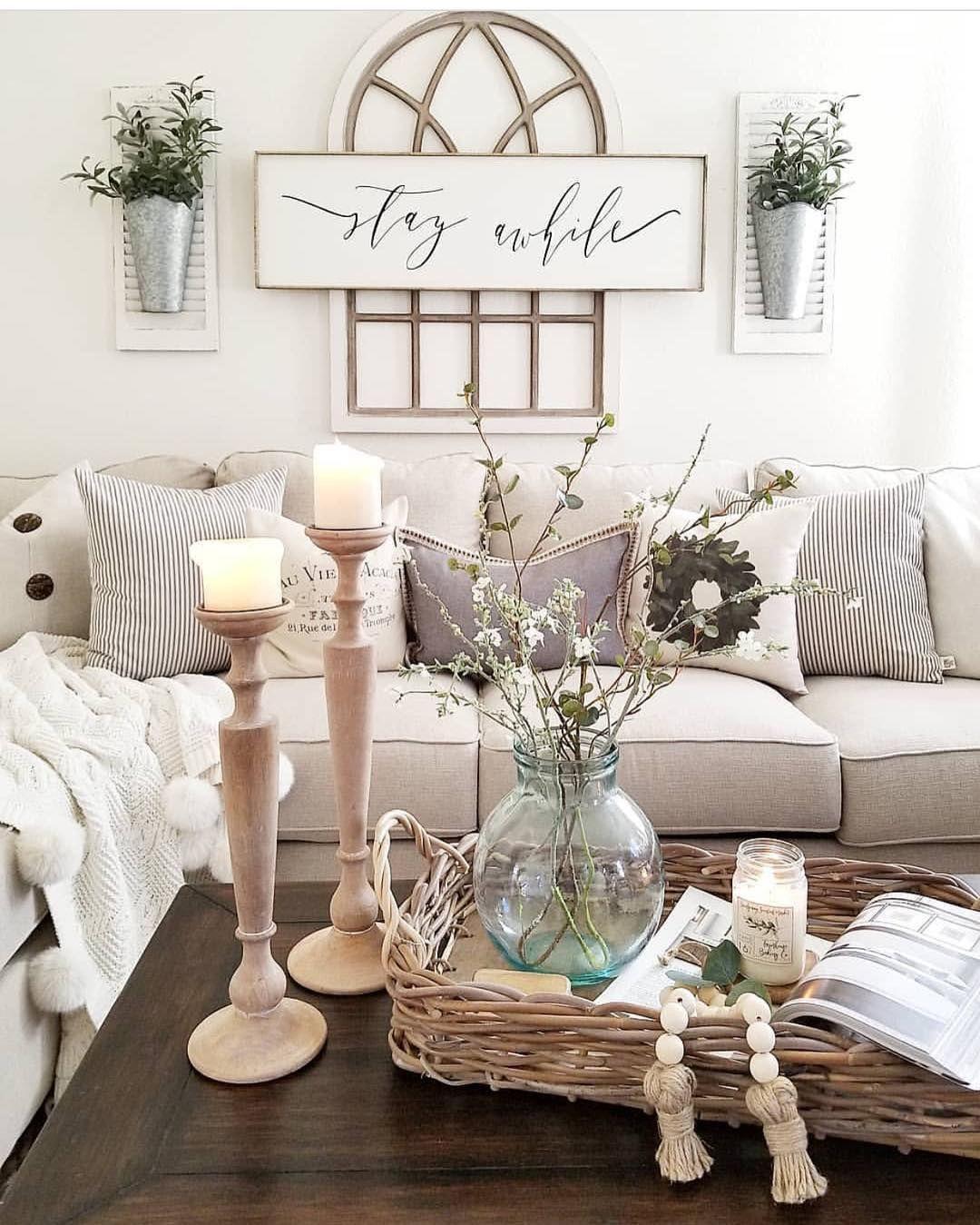Living room | Farmhouse decor living room, Farm house ...