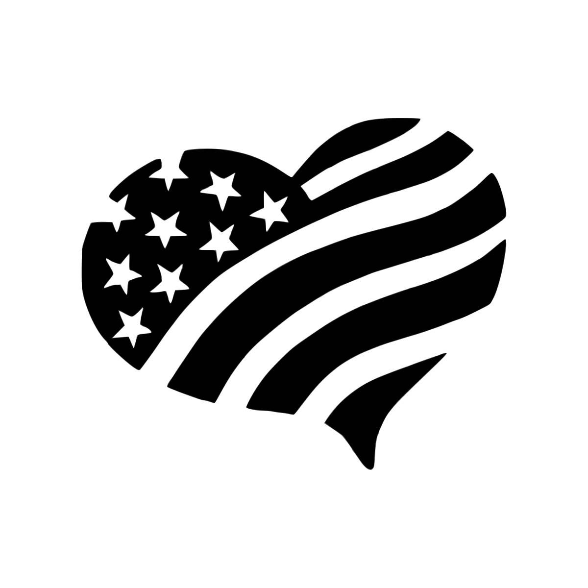 Heart Shaped American Flag By Cityvinyl On Etsy With Images