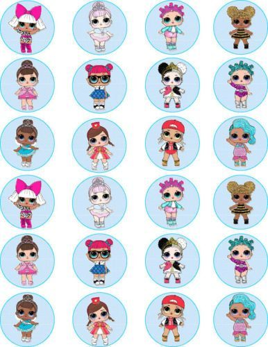 Lol Surprise Dolls Edible Wafer Paper Cake Toppers X 24