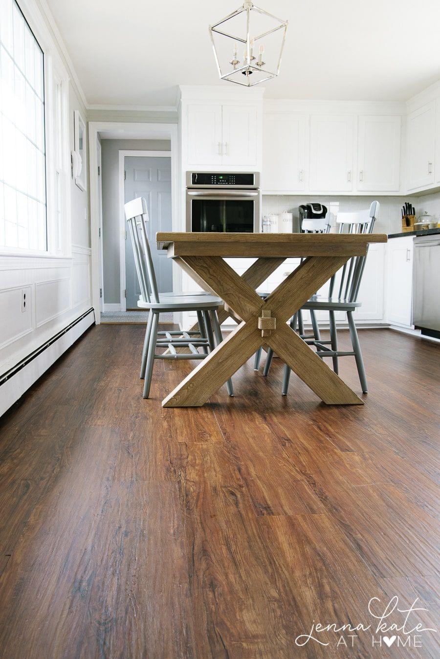 Kitchen Makeover How To Install Luxury Vinyl Plank Flooring