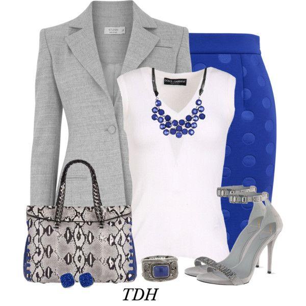 blue gray royal blue skirt outfits pinterest. Black Bedroom Furniture Sets. Home Design Ideas