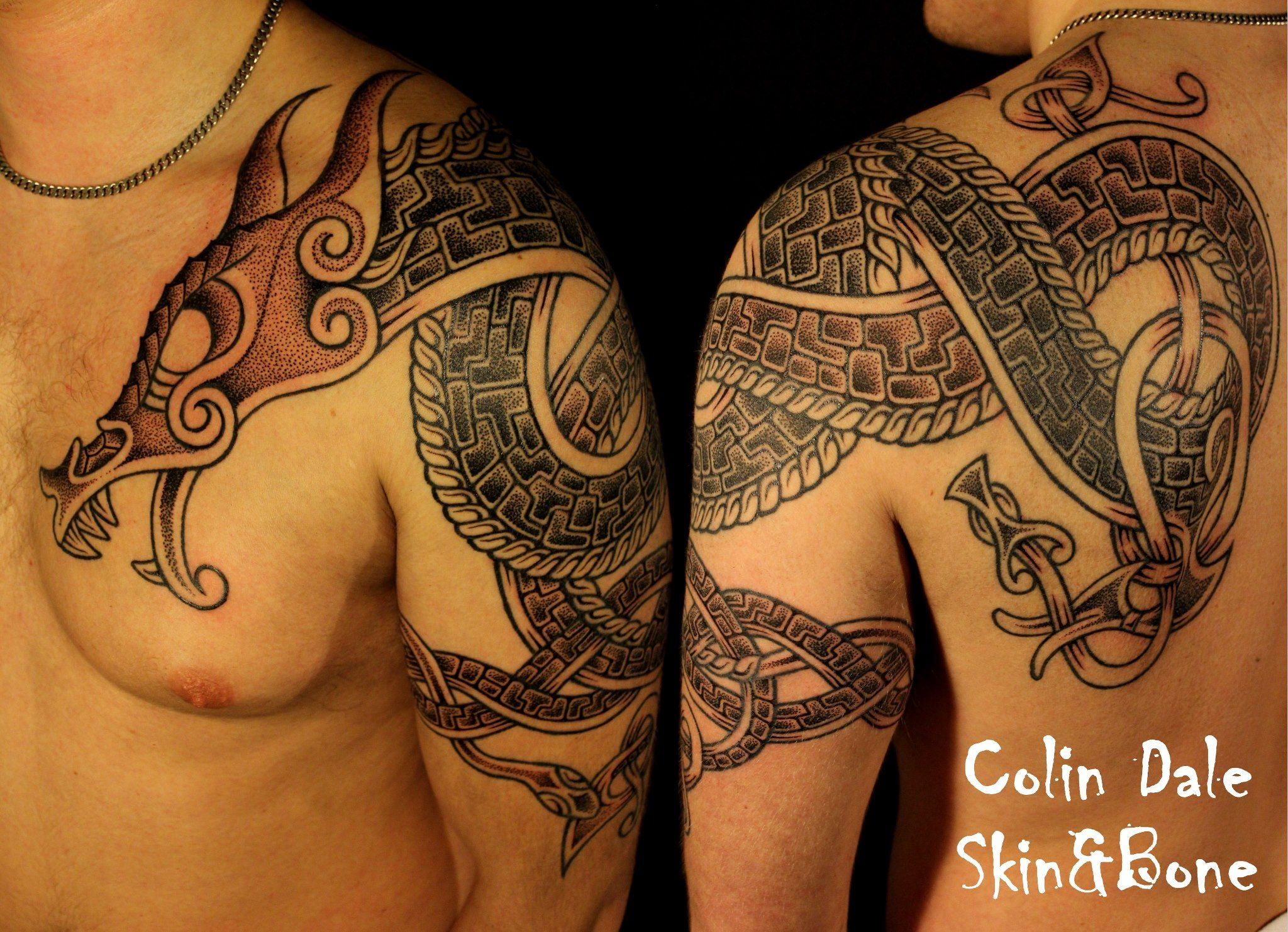 Pics For Gt Viking Dragon Tattoo Viking Dragon Tattoo Celtic Dragon Tattoos Dragon Tattoo