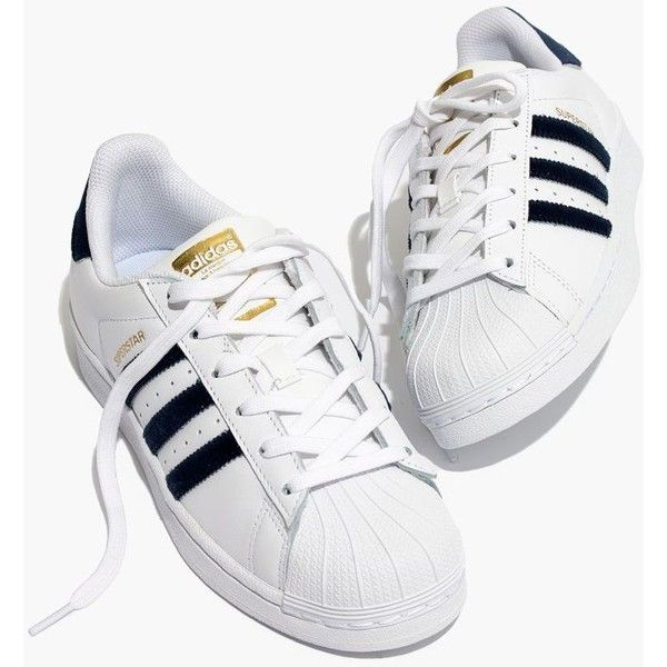 madewell adidas superstar lace up sneakers in velvet 80 rh pinterest com