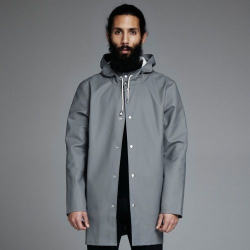 Stockholm Grå - Grey Raincoat – Stutterheim Raincoats hair beard ...