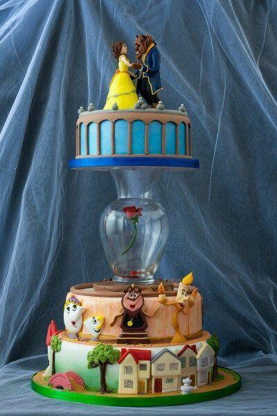 Beauty And The Beast Wedding Cake Die Schone Und Das Biest Hochzeitstorte Disney Kuchen Coole Torten Disney Tortchen