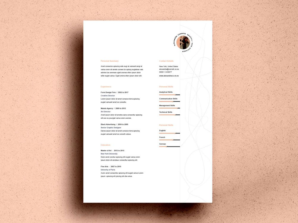 Flame Resume Free Resume Template with Simple Two Column