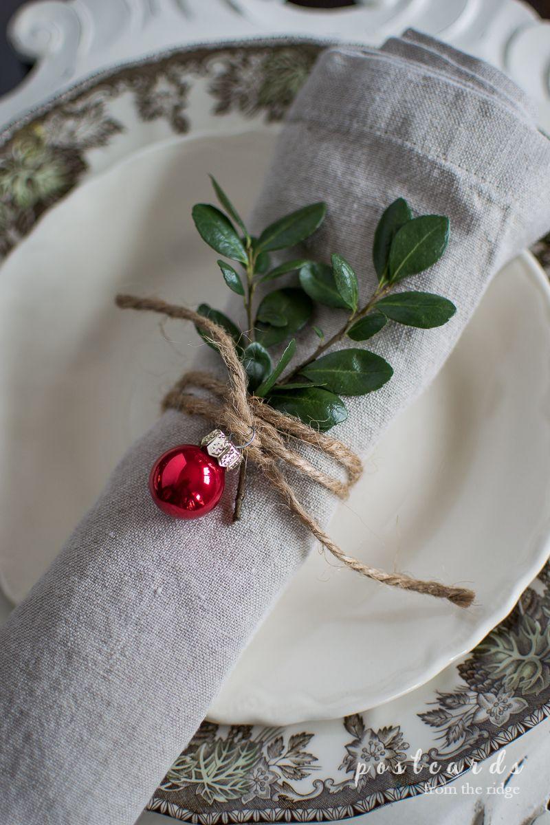 Natural Rustic Christmas Table