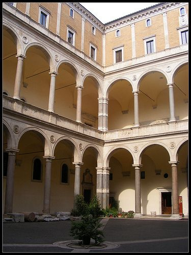 The courtyard of Palace of the Chancellery, Rome