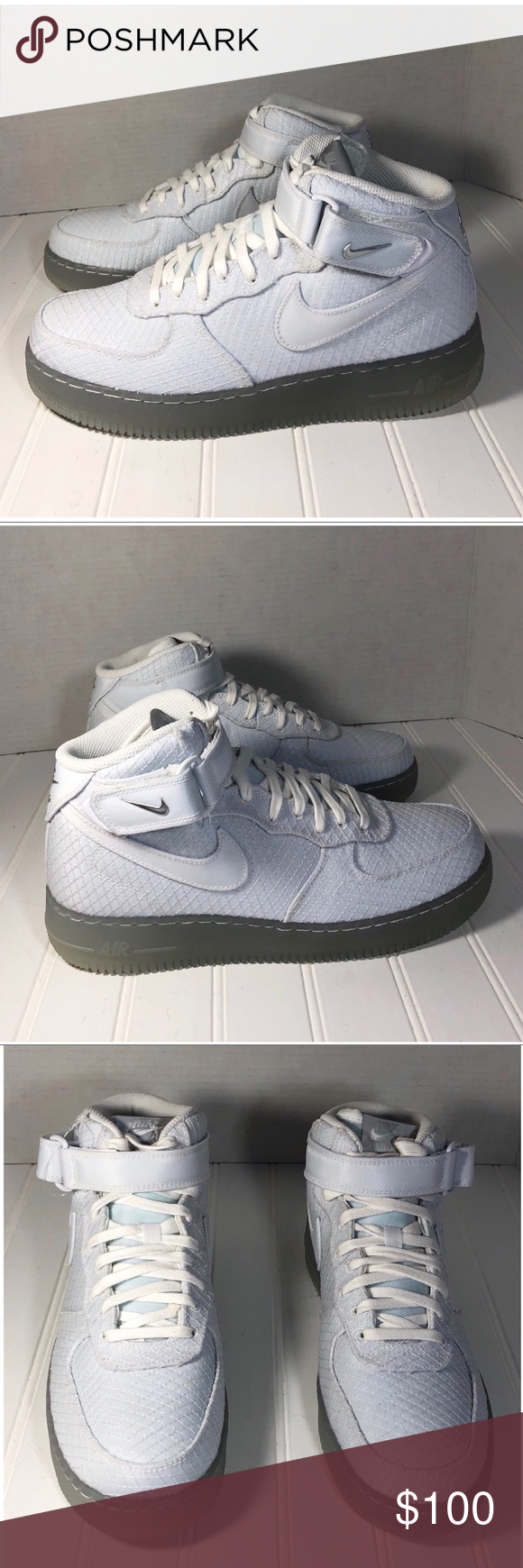 premium selection d5ff0 4e255 Nike Metallic Silver Air Force 1 Mid LV8 Size 8 New without box Air Force 1  Mid  07 LV8 Style ID  804609-102 Brand  Nike Color  White Metallic Silver  Size  ...