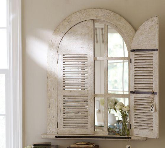 Arched Door Mirror Pottery Barn Arched Doors Mirror Decor Mirror Door