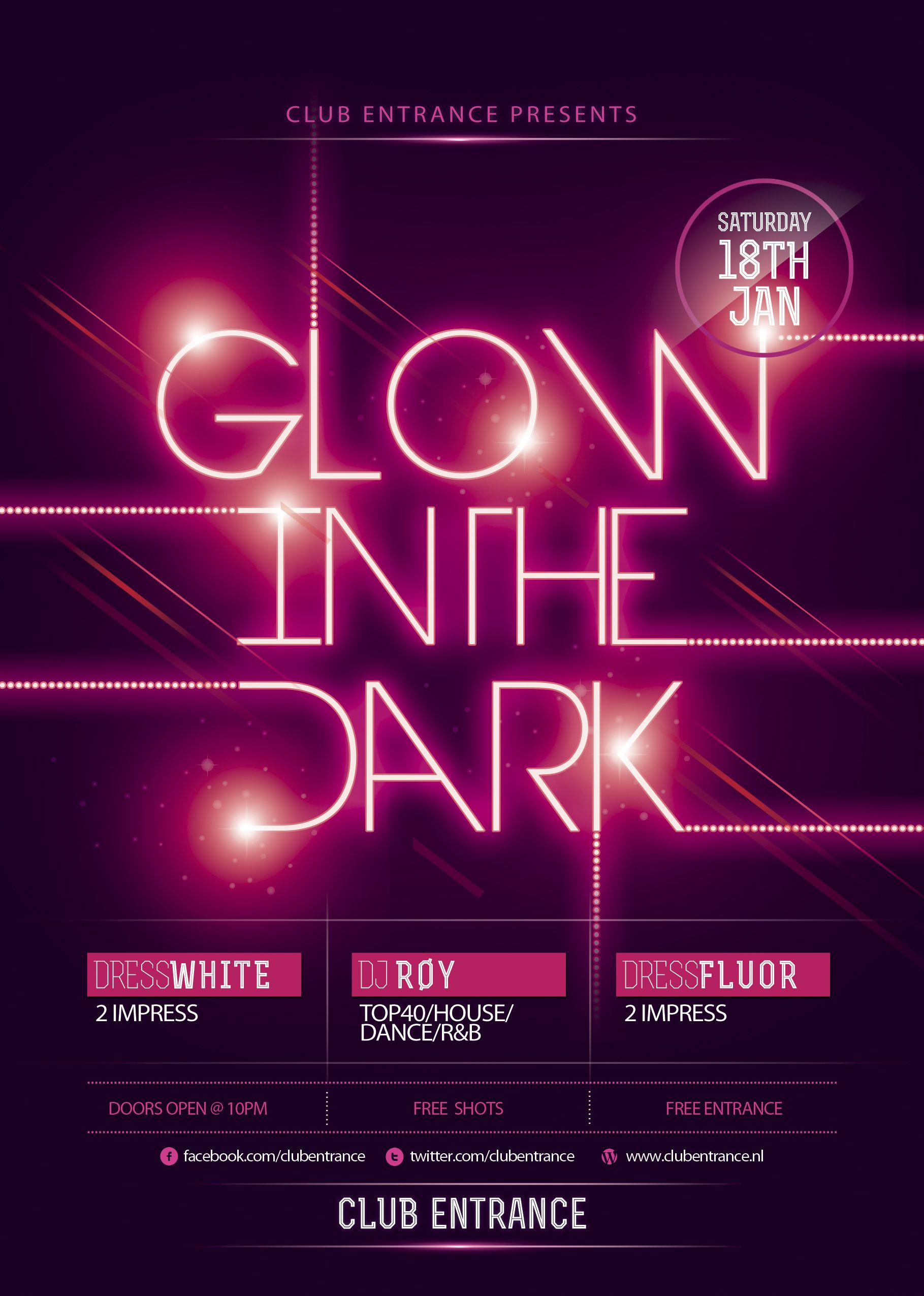 Glow Party Flyer Template  Buscar Con Google  Design