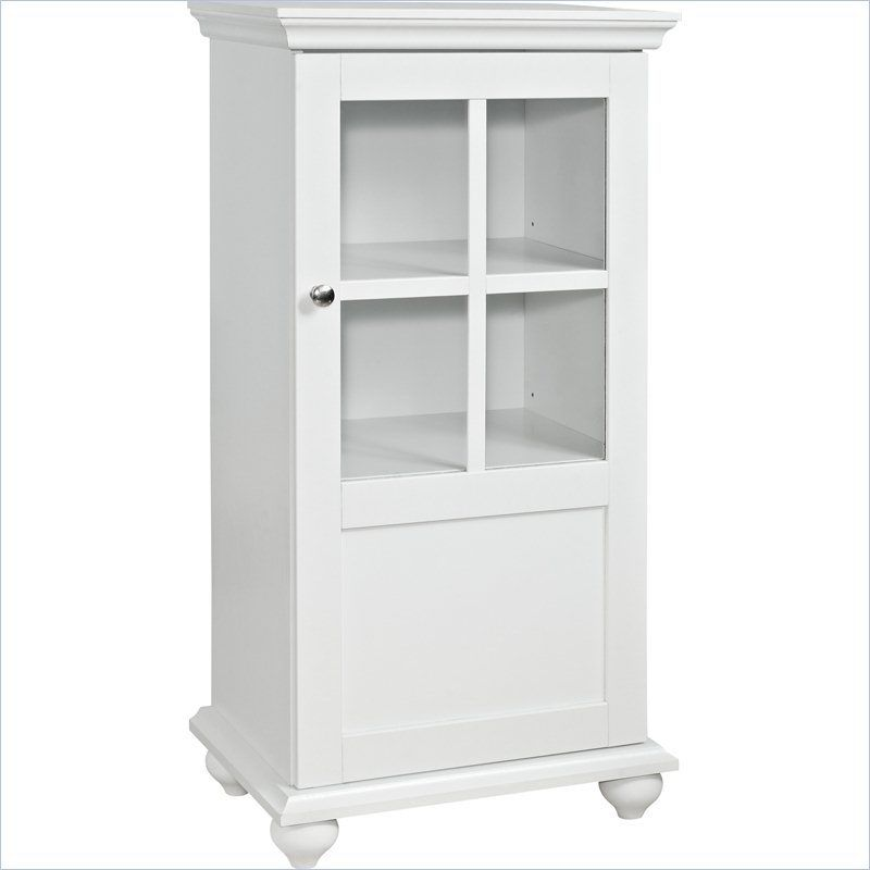 Altra Furniture Reese Park 36 H Storage Cabinet With Glass Door In White 5342096