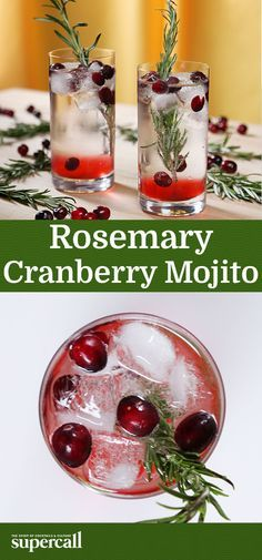 Refreshing, minty Mojitos are usually relegated to the warmer months, but the rum classic can easily become a wintertime staple with just a couple of tweaks. Put a holiday sweater on your Mojito by adding fresh cranberries for tart flavor and color, and aromatic rosemary for a striking look.