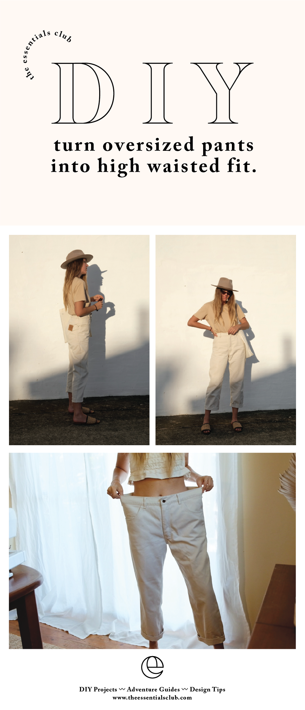 Photo of DIY: Two ways to transform an oversized pair of pants — The Essentials Club // Creative DIY Hub