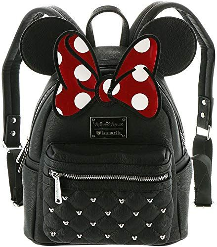 Best Seller Loungefly Disney Minnie Mouse Bow Mini Faux Leather Backpack WDBK0208 online