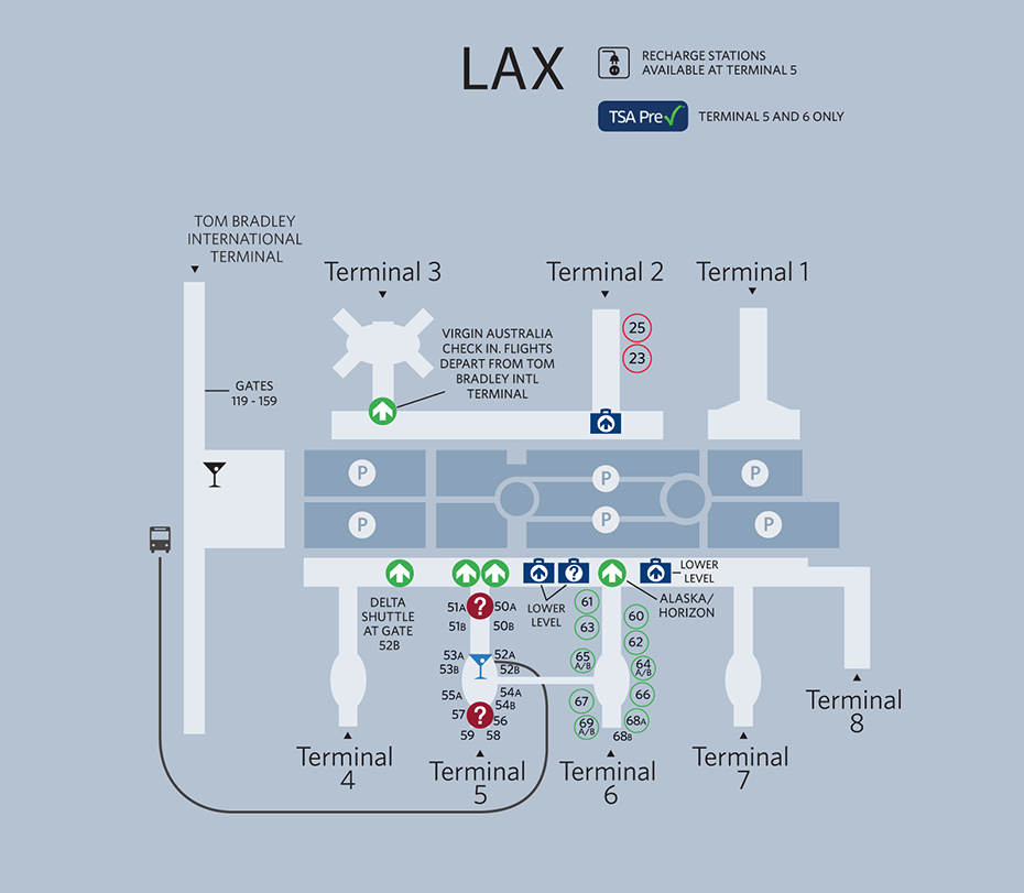 Los Angeles International Airport Map Airport Map Map Airport