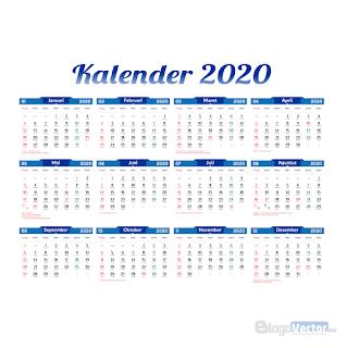 Template Kalender 2020 Vector Cdr Ai Templates Vector Logo Custom Logos