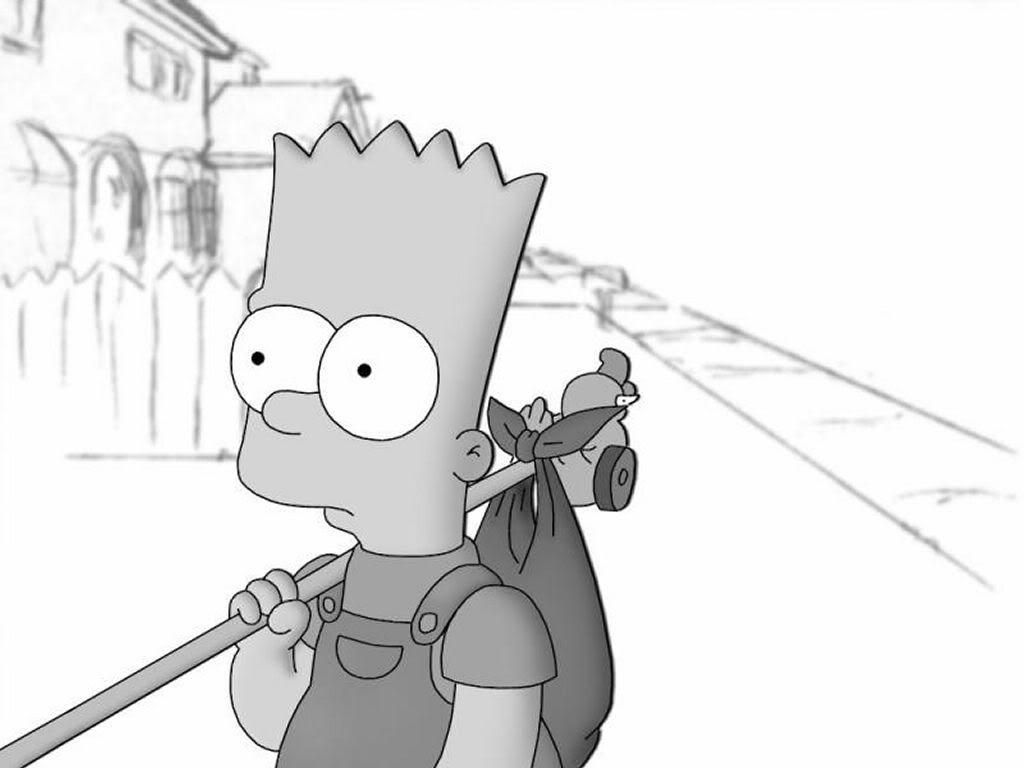 bart-simpson-black-and-white.jpg (1024×768) | The simpsons tumblr ...