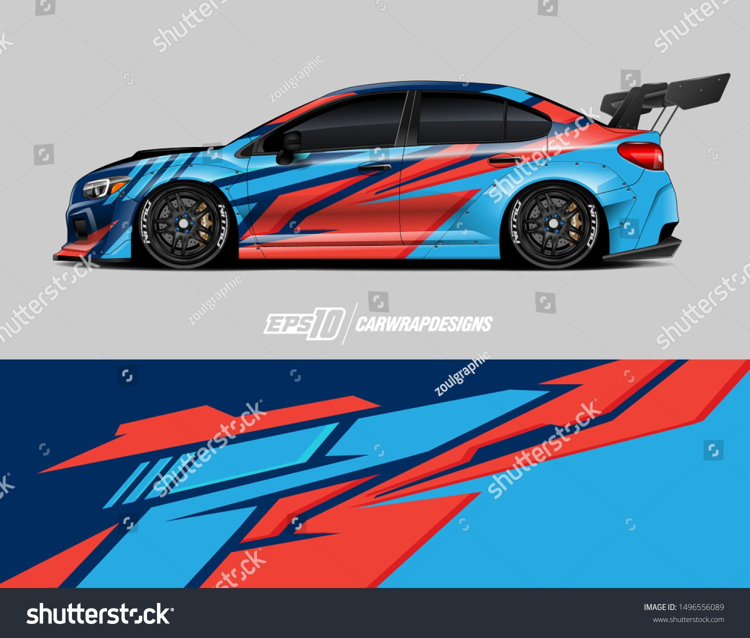 Car wrap graphic. Abstract racing strip and background for