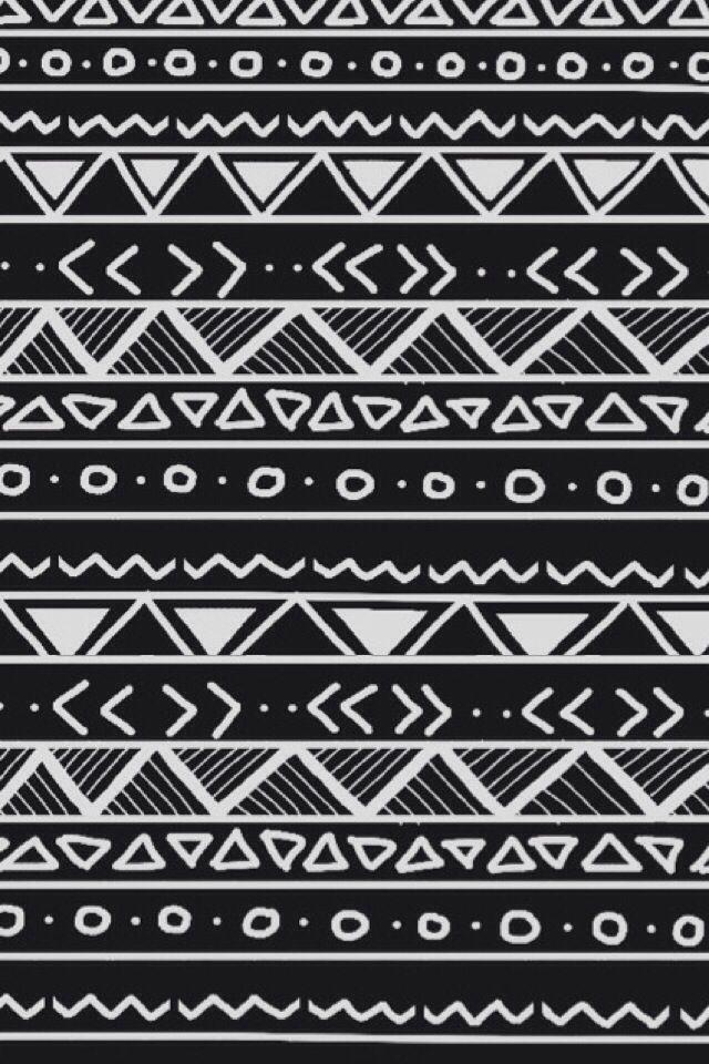 Black And White Tribal Iphone Wallpaper Tribal Print Wallpaper