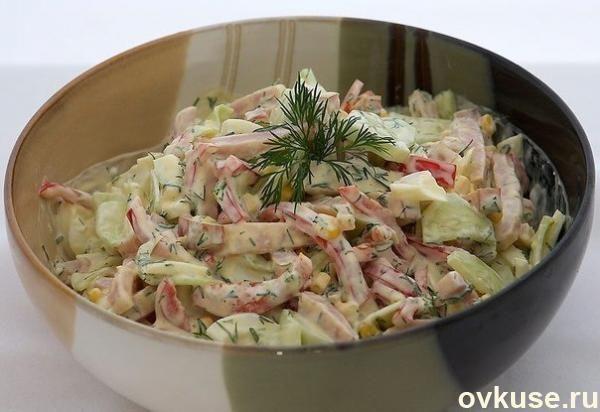 Рецепты простых салатов с яйцами и ветчиной