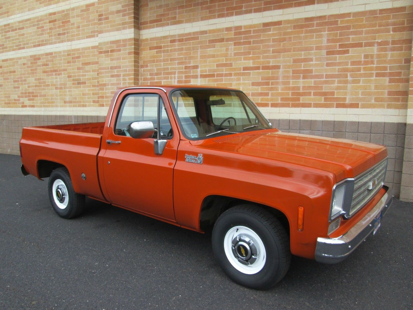 Bangshift Com This Might Be The Most Perfect Short Bed Square Body C10 Daily Driver Ever Bangshift Com In 2020 Pink Chevy Trucks Square Body Chevy Pickup Trucks