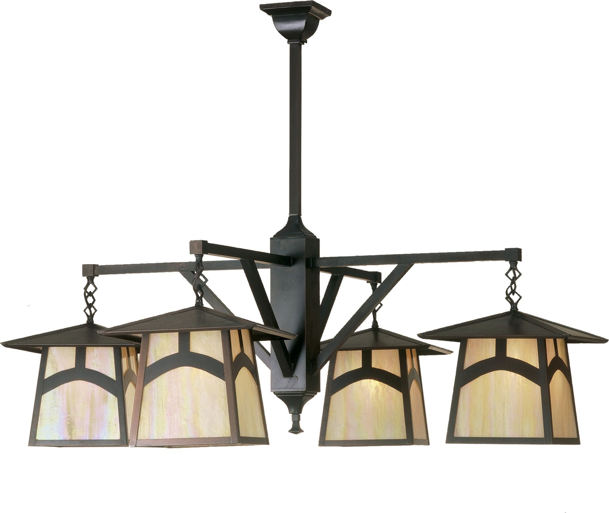 "Meyda 47""W Stillwater Hill Top 4 Lt Chandelier"