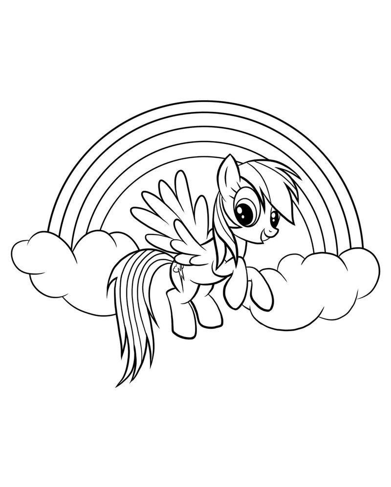 The Beautiful Rainbow Dash Coloring Pages | My little pony ...