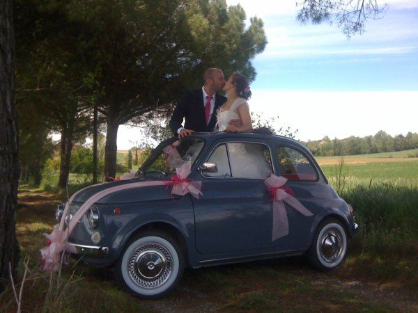 mariage en 5oo ancienne fiat 500 de cl flo toulouse fiat 500 pinterest toulouse. Black Bedroom Furniture Sets. Home Design Ideas
