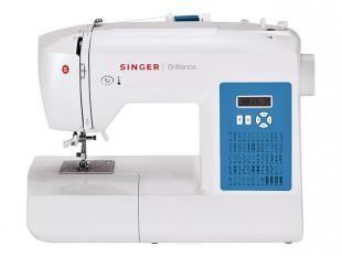 Máquina de Costura Eletrônica Singer Brilliance - com 56 Pontos e 4 Tipos de Casa de Botão e Luz LED