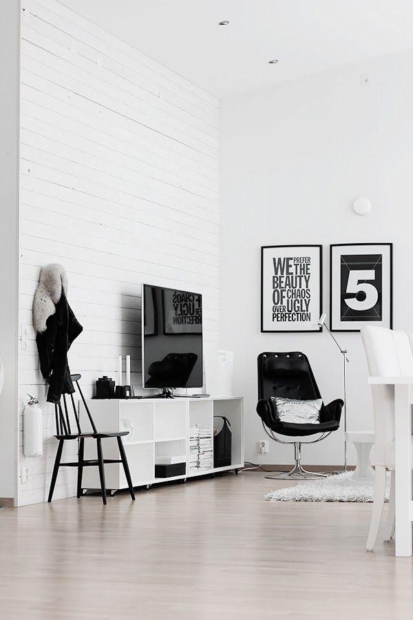 a fashionable home | Décoration noir et blanc, Design ...