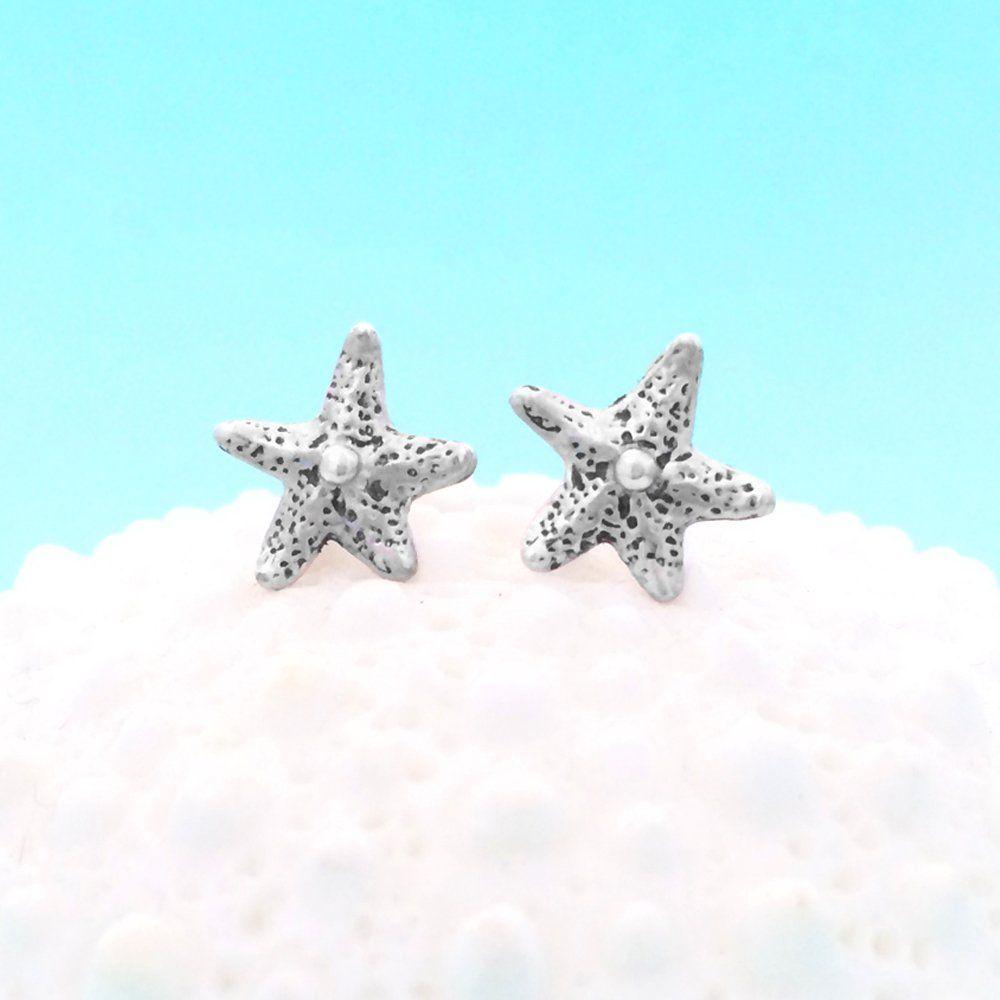 Dancing Starfish Earrings In Sterling Silver