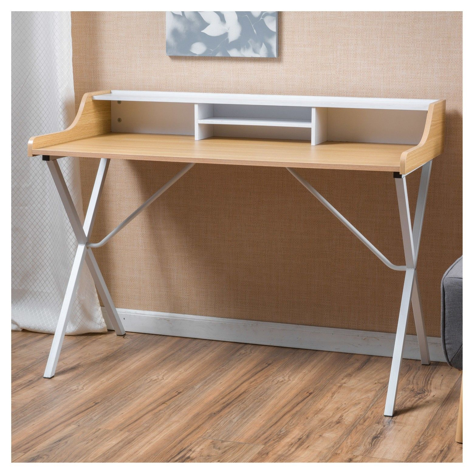 aa436ce0a4c Aalto Computer Desk - White - Christopher Knight Home