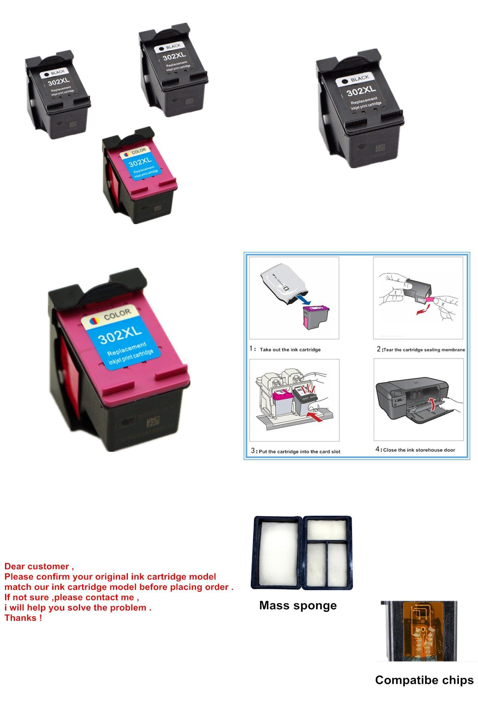 Visit To Buy 3 Pcs Ink Cartridge For Hp 302 302 Xl Ink Cartridge