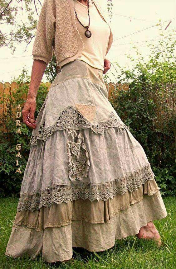 Photo of Nydelig vintage skjørt – bohem stil